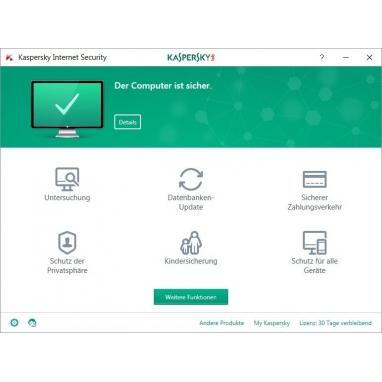 Kaspersky Internet Security 1 PC 2017 /  2016 Aktivierungsschlüssel key download