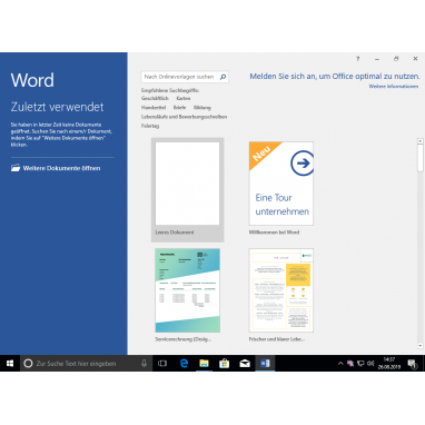Microsoft Office 2016 Home & Student ESD Schlüssel download